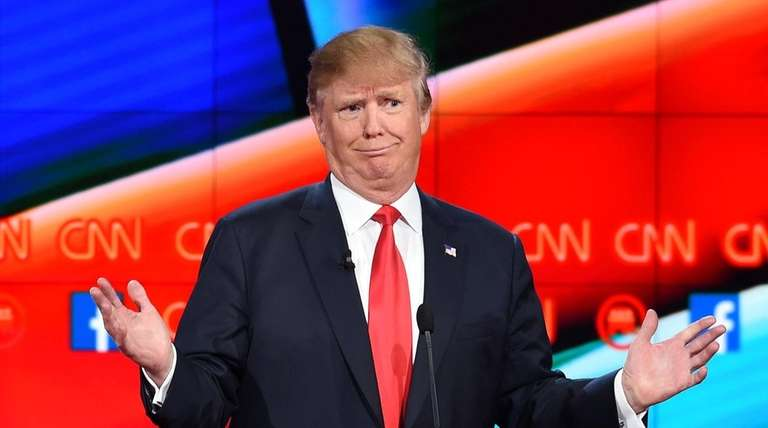 Republican presidential candidate Donald Trump is pictured at