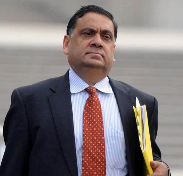 Harendra Singh, outside federal court in Central Islip