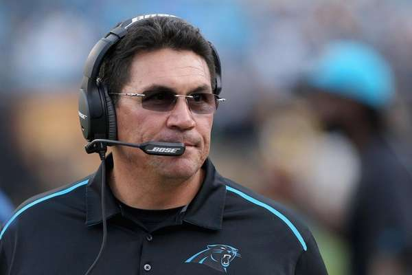 Head coach Ron Rivera of the Carolina
