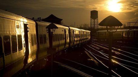 An eastbound Long Island Rail Road train enters