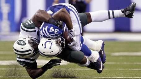 Indianapolis Colts running back Josh Robinson (34) is