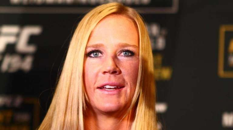 UFC women's bantamweight champion Holly Holm answers questions