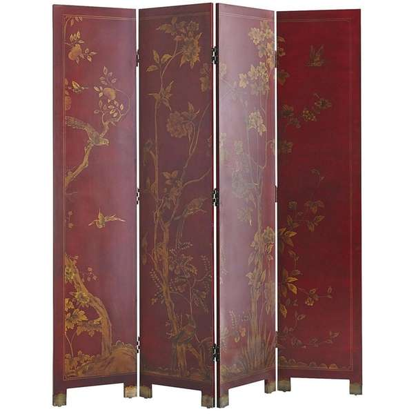 The red Taochi Room Divider ($349.99 at pier1.com)