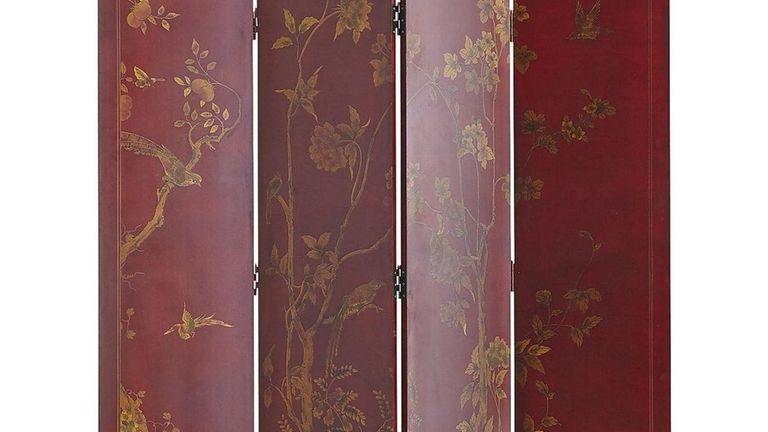The red Taochi Room Divider ($349.99 at pier1.com)