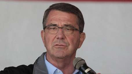 U.S. Defense Secretary Ash Carter addresses U.S.