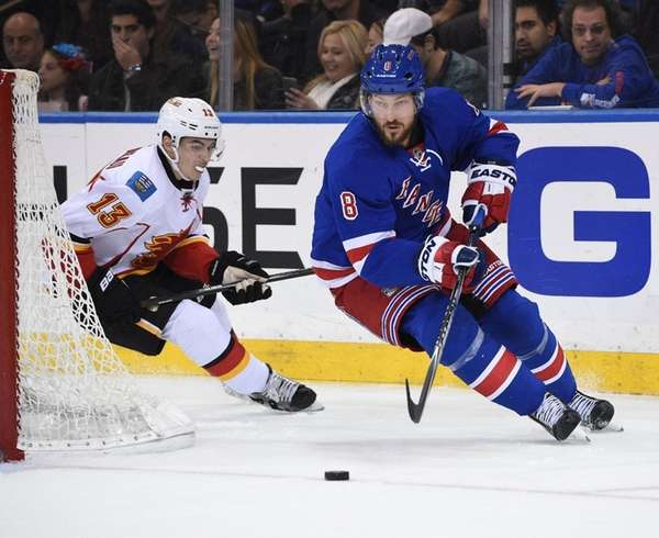 New York Rangers defenseman Kevin Klein skates for