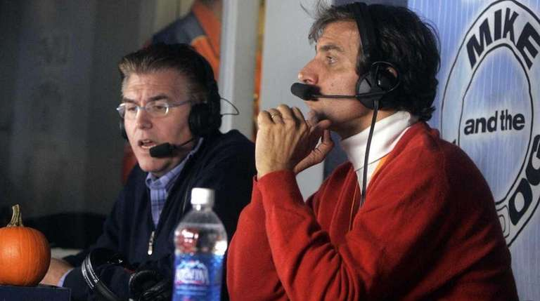Mike Francesa and Chris Russo are seen