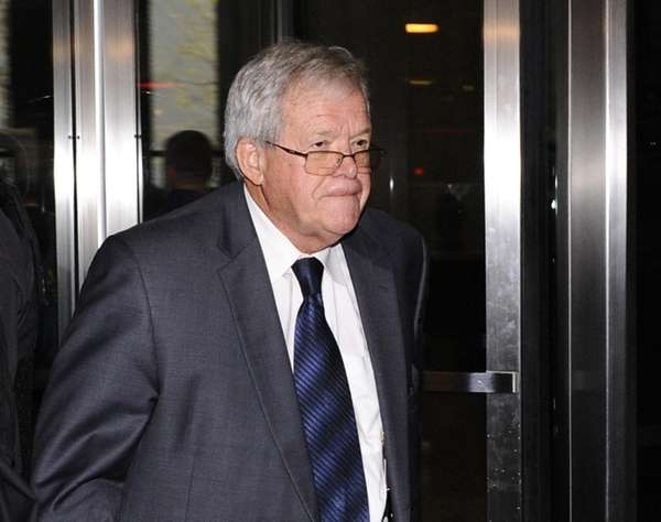 Former U.S. House Speaker Dennis Hastert leaves
