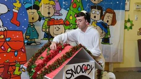 Vinny Donnadio, 18, of Patchogue, who plays Snoopy,
