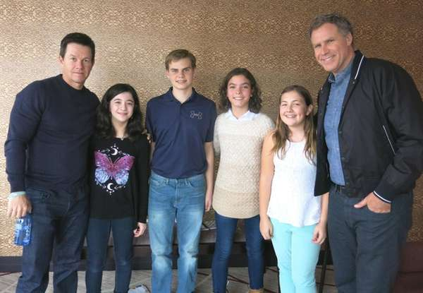 Actors Mark Wahlberg and Will Ferrell with Kidsday