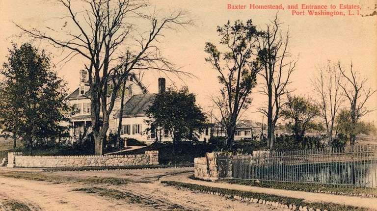 Undated postcard of the Baxter House. The Baxter