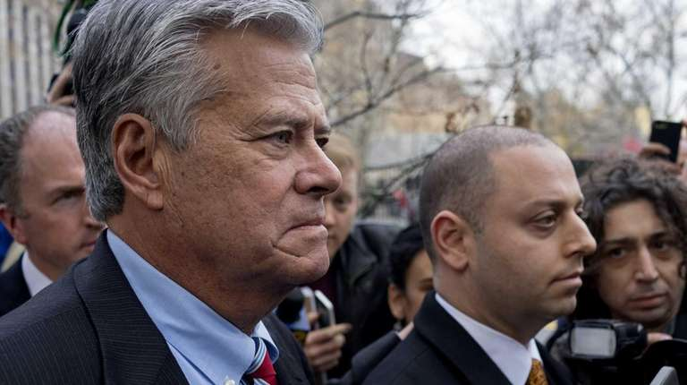 From left, Sen. Dean Skelos and his son,