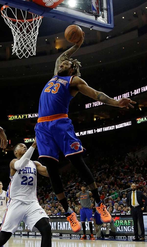 Knicks' Derrick Williams, who had 17 points