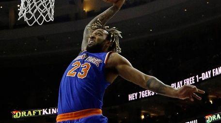 Knicks' Derrick Williams, who had 17 points