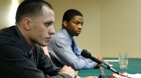Christopher Loeb, left, who was allegedly assaulted by