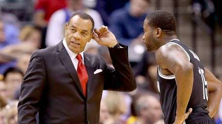 Lionel Hollins, head coach of the Brooklyn Nets,