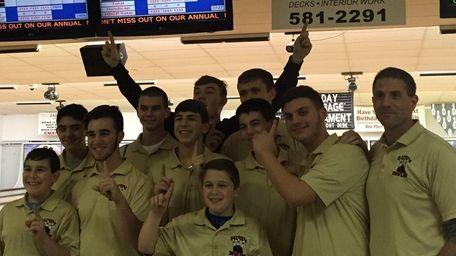The Sachem boys bowling team beat reigning