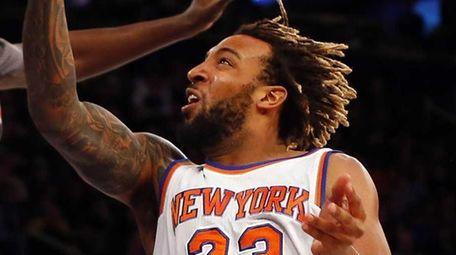 Derrick Williams #23 of the New York Knicks