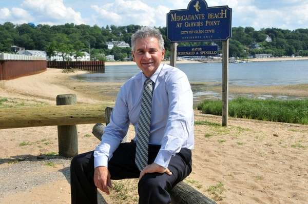 Glen Cove Mayor Reginald Spinello stands at the
