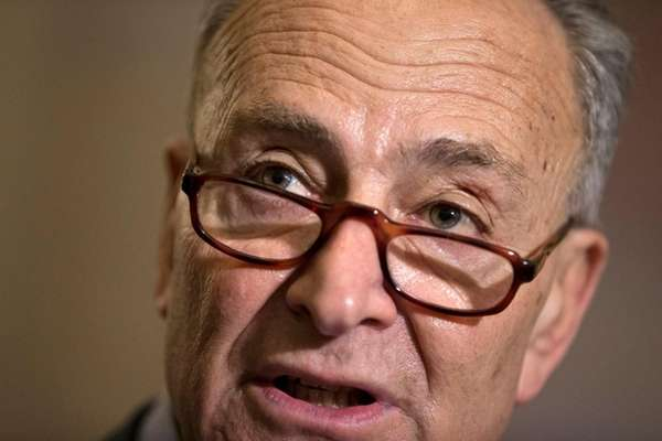 Sen. Chuck Schumer, D-N.Y., at a news