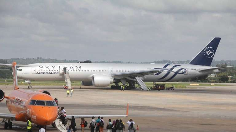 The Boeing 777 Air France flight 463 parked