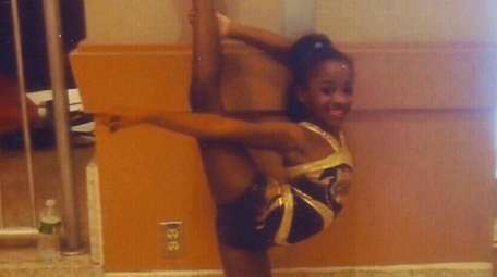 Kidsday reporter Chyane Milledge shows off her cheer