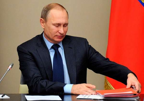 Russian President Vladimir Putin attends a Security Council
