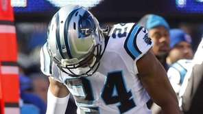 Josh Norman #24 of the Carolina Panthers stands