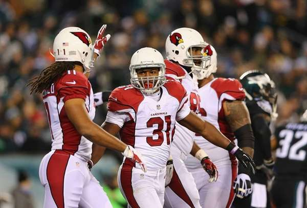 David Johnson #31 of the Arizona Cardinals celebrates
