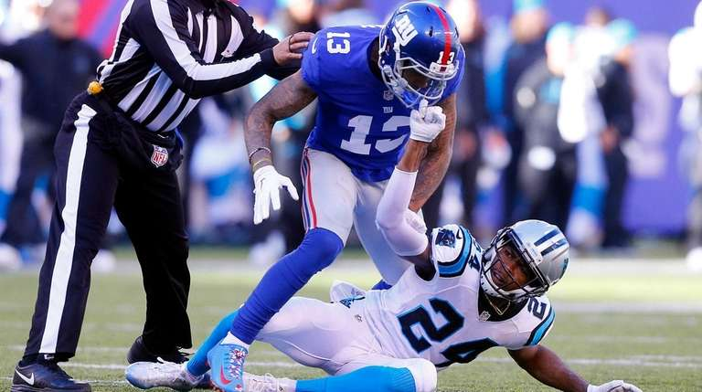 Giants' Odell Beckham Jr. and Panthers' Josh Norman