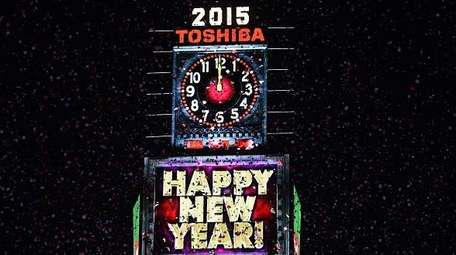 'Happy New Year 2015' is seen displayed on