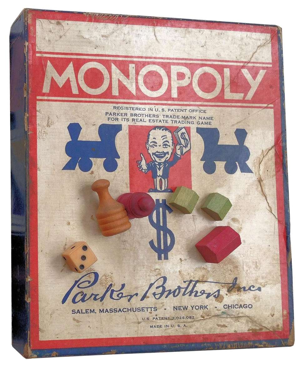 The first Monopoly pieces were made of materials