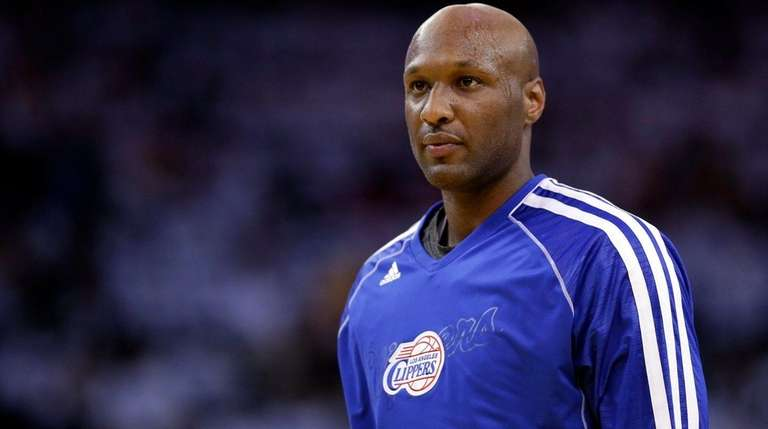 NBA star Lamar Odom appears in a Jan.