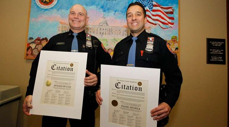 Nassau County police officers Richard Muller and Frank