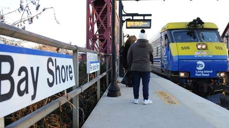 The Bay Shore LIRR station is seen in