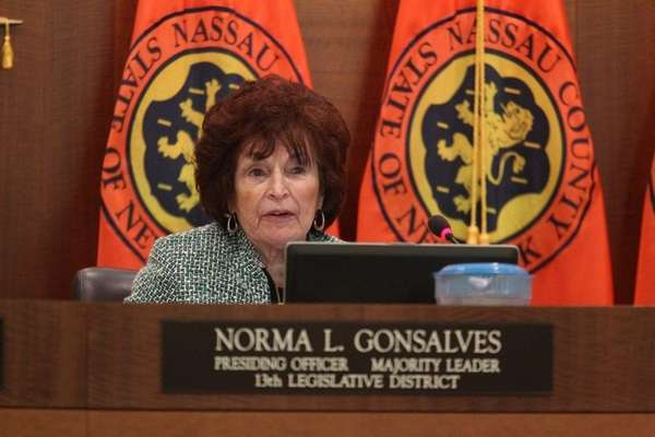 Nassau County Legislator Norma Gonzalves with the