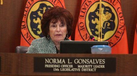 Nassau County Legislator Norma Gonzalves with the