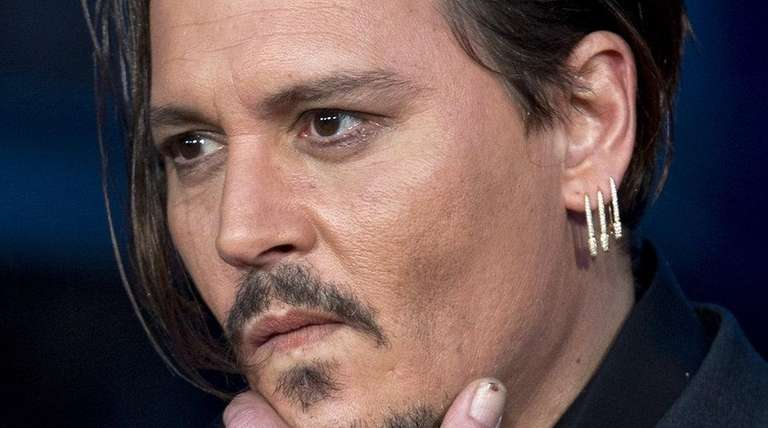 Johnny Depp attends the premiere of