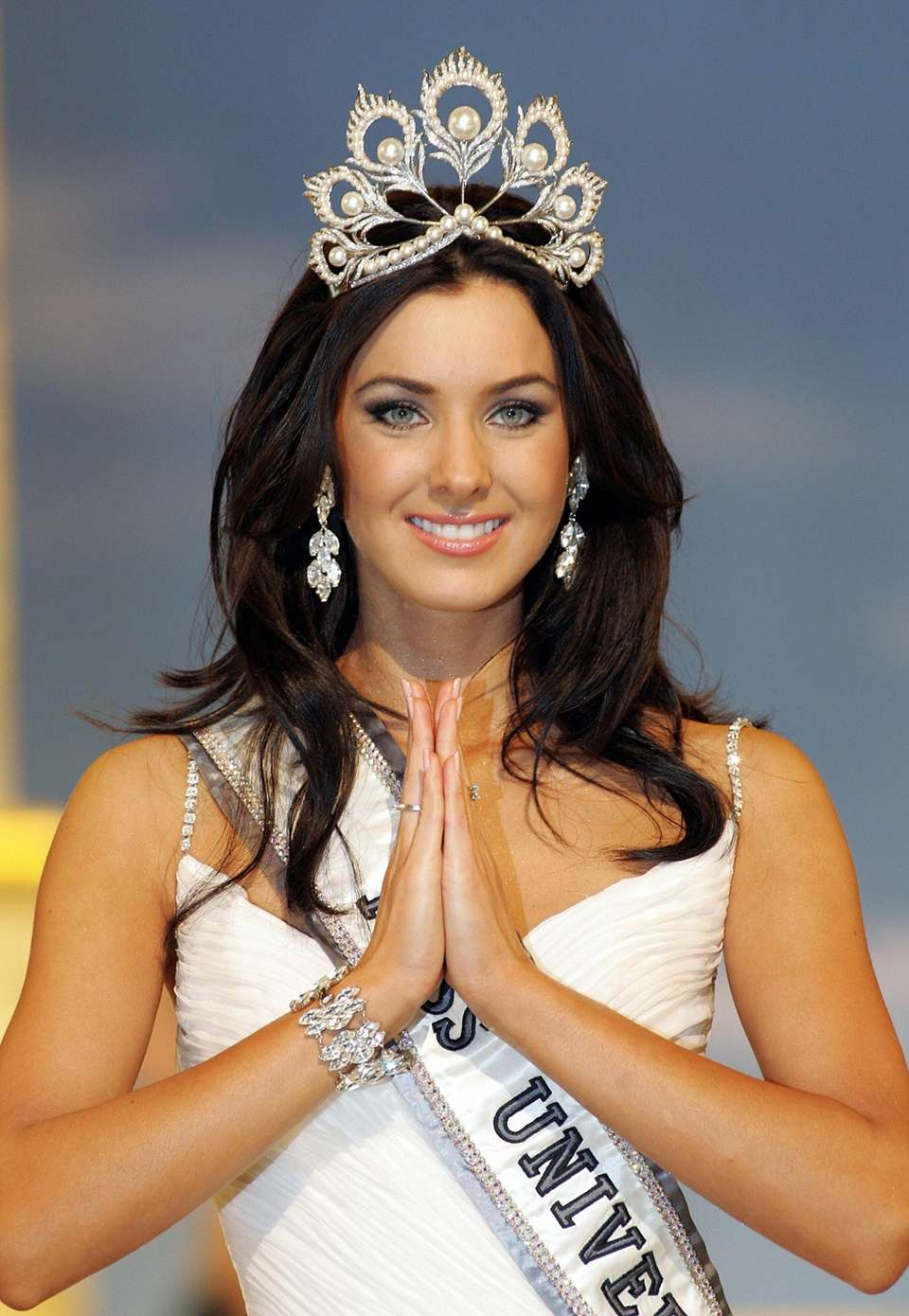 Miss Canada Natalie Glebova is all smiles after