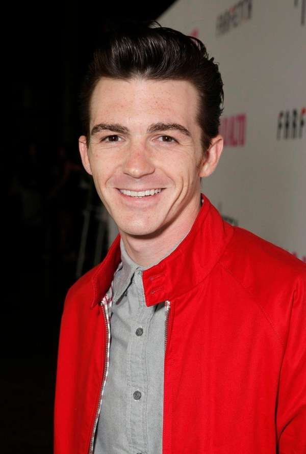 Drake Bell arrives at the premiere of the