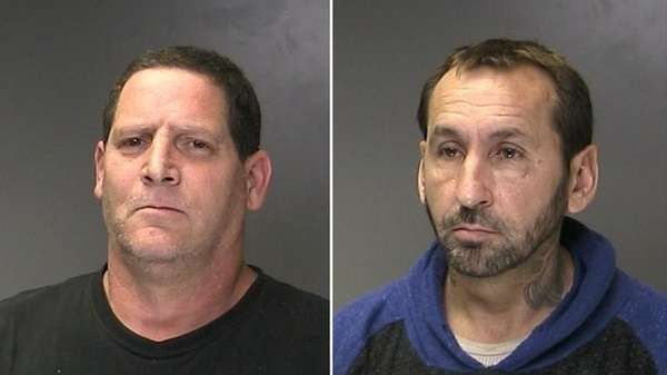 Michael Heafy, 50, of Patchogue, left, and Christopher