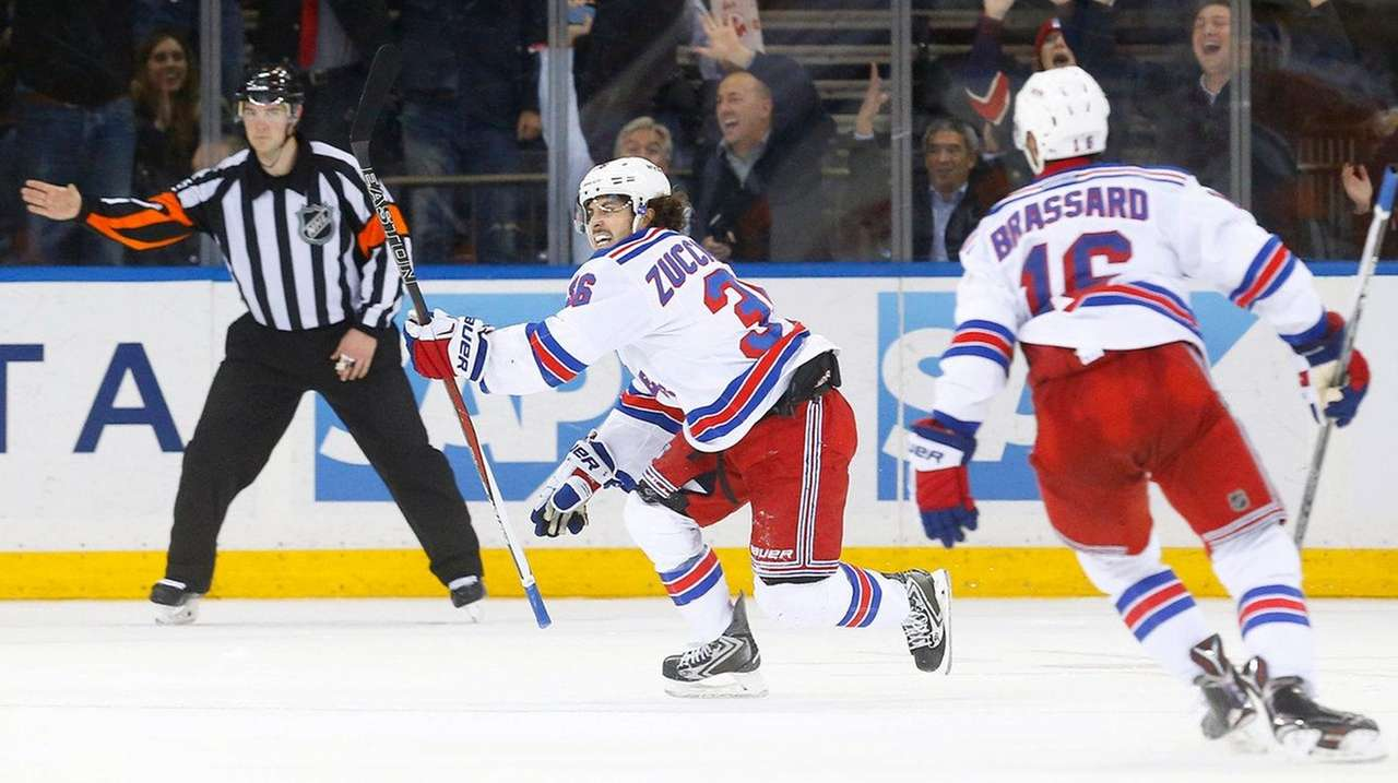 Mats Zuccarello #36 of the New York