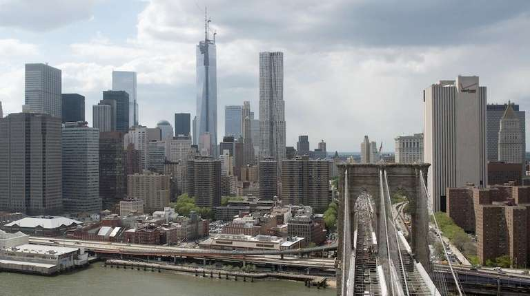 One World Trade Center and the lower New