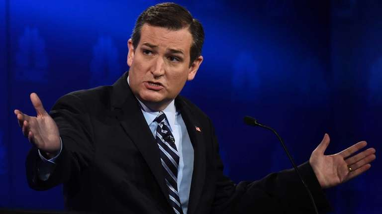 Republican Presidential hopeful Ted Cruz speaks during the