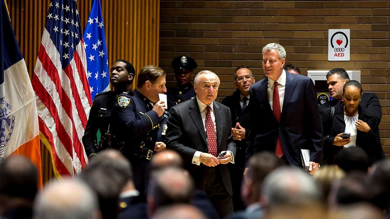 Police Commissioner William Bratton and New York City