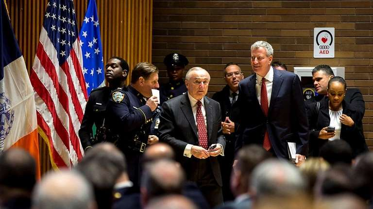 Police Commissioner William Bratton and New York City