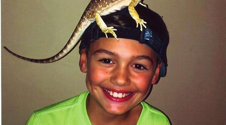 Kidsday reporter Donny Chiappetta with his bearded dragon,