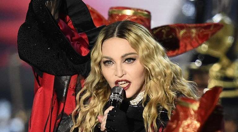 Madonna performs during her