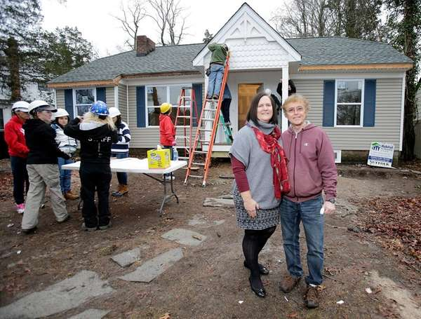 With volunteers working on his home, Tommy Sullivan