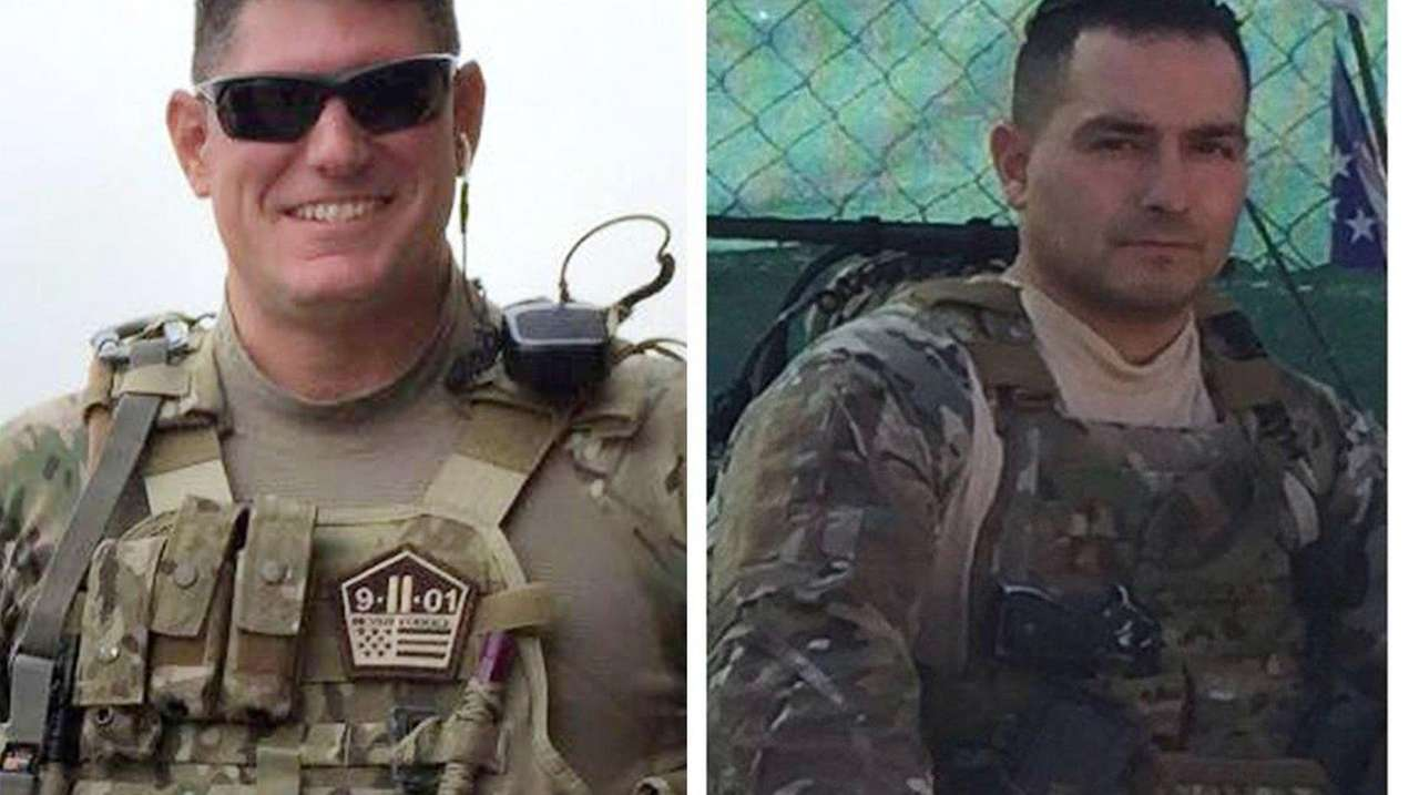 Tech Sgt. Joseph Lemm, 45, left, an NYPD
